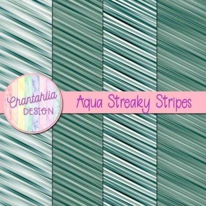 free aqua streaky stripes digital papers