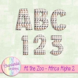 Free alpha in an At the Zoo - Africa theme.