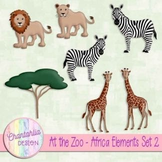Free design elements in an At the Zoo - Africa theme