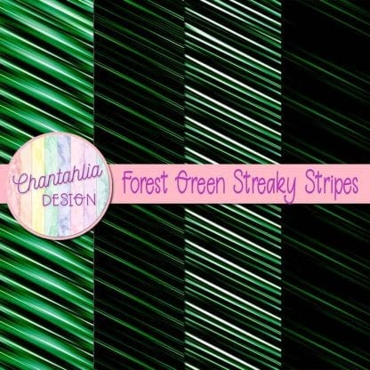free forest green streaky stripes digital papers