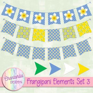 Free design elements in a Frangipani theme