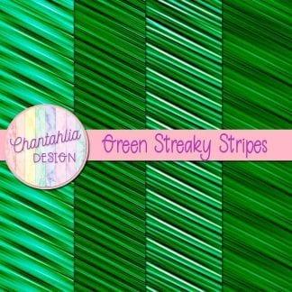 free green streaky stripes digital papers