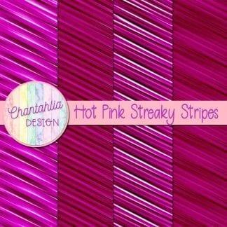 free hot pink streaky stripes digital papers