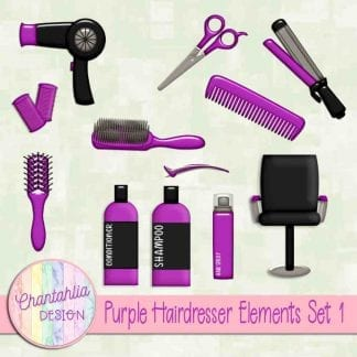 Free design elements in a Hairdresser theme.