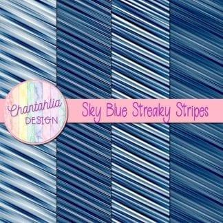 free sky blue streaky stripes digital papers