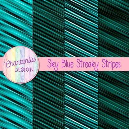free teal streaky stripes digital papers