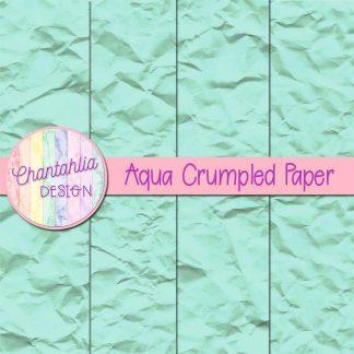 Free aqua crumpled digital papers