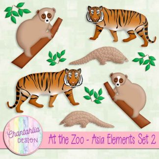 Free design elements in an At the Zoo - Asia theme
