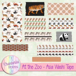 Free washi tape in an At the Zoo - Asia theme.