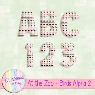 Free alpha in an At the Zoo - Birds theme.