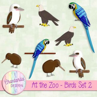 Free design elements in an At the Zoo - Birds theme