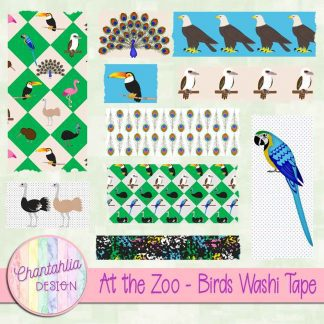 Free washi tape in an At the Zoo - Birds theme
