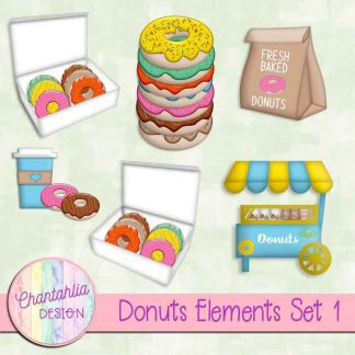 Free design elements in a Donuts theme