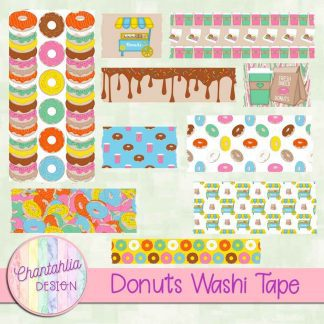 Free washi tape in a Donuts theme