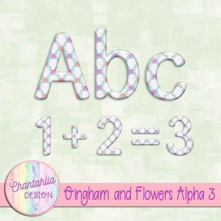 Free alpha in a Gingham and Flowers theme.