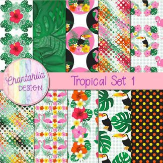 Free digital papers in a Tropical theme.