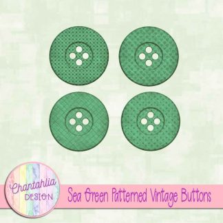 Free sea green patterned vintage buttons