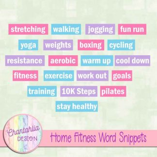 Free word snippets in a Home Fitness theme