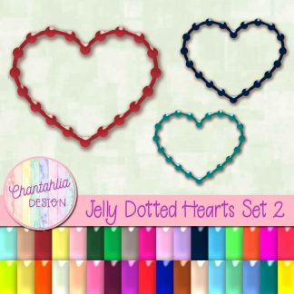 free heart design elements in a jelly style