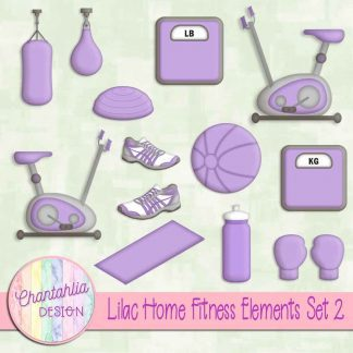 Free lilac design elements in a Home Fitness theme