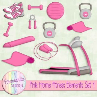 Free pink design elements in a Home Fitness theme