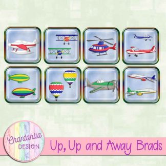 Free digital brads in a Up, Up and Away Air Transport theme