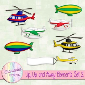 Free design elements in a Up, Up and Away Air Transport theme