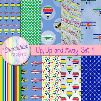 Free digital papers in a Up, Up and Away Air Transport theme