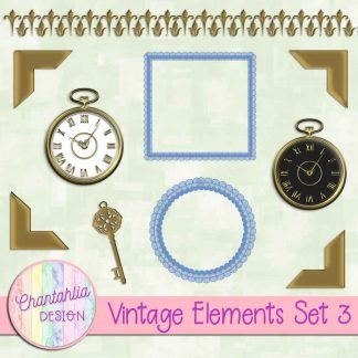 Free design elements in a Vintage theme.