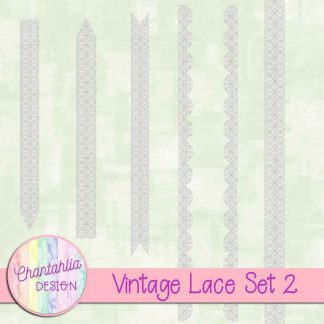 Free lace design elements in a Vintage theme