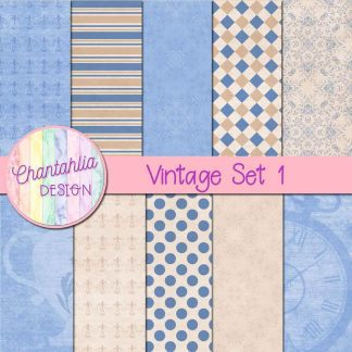 Free digital papers in a Vintage theme.