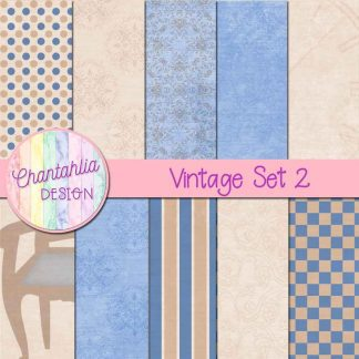 Free digital papers in a Vintage theme
