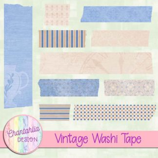 Free washi tape in a Vintage theme.