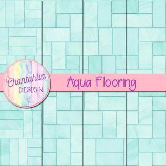Free aqua flooring digital papers