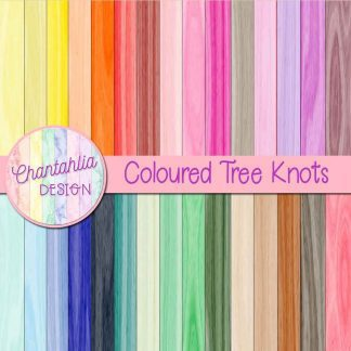 free digital papers featuring a coloured tree knots design