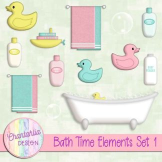 Free design elements in a Bath Time theme