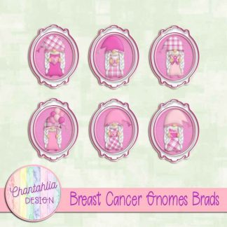 Free brads in a Breast Cancer Gnomes theme