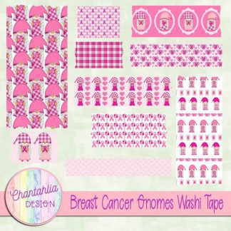 Free washi tape in a Breast Cancer Gnomes theme
