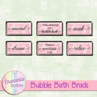 Free brads in a Bubble Bath theme