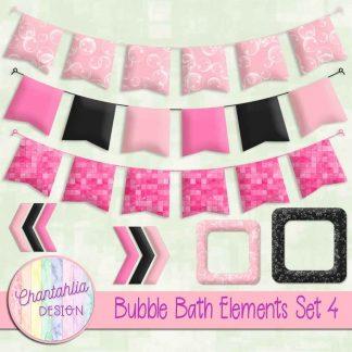 Free design elements in a Bubble Bath theme