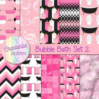 Free digital papers in a Bubble Bath theme