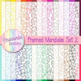 free digital papers featuring a framed mandala design.